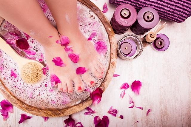Fußbad Fußmassage Yoga im Allgäu Sonthofen